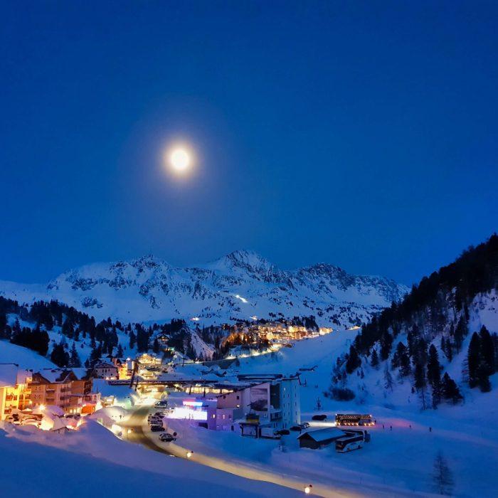 Postcard from Austria: Full Moon in Obertauern