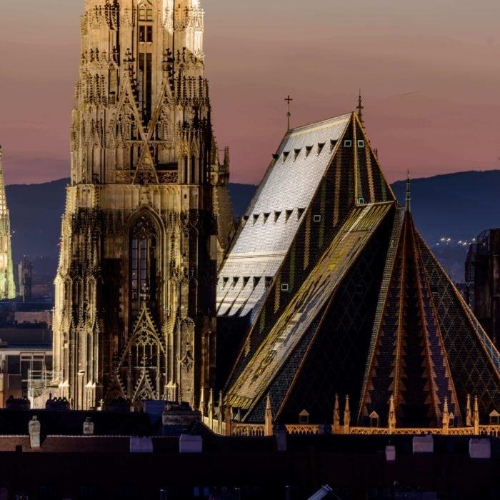Postcard from Austria: St. Stephen's in Vienna by night