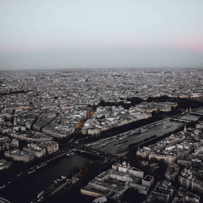 Postcard from France: Bird's eye view of the Seine in Paris