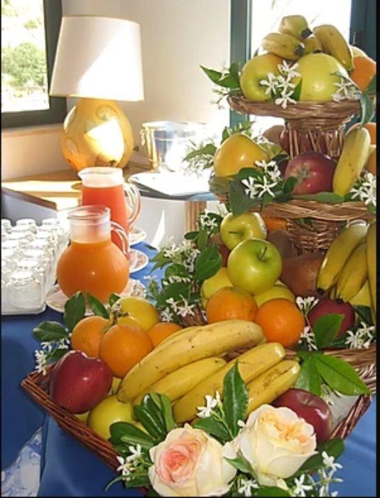 Fruit baskets at Hotel Aurora,Sperlonga