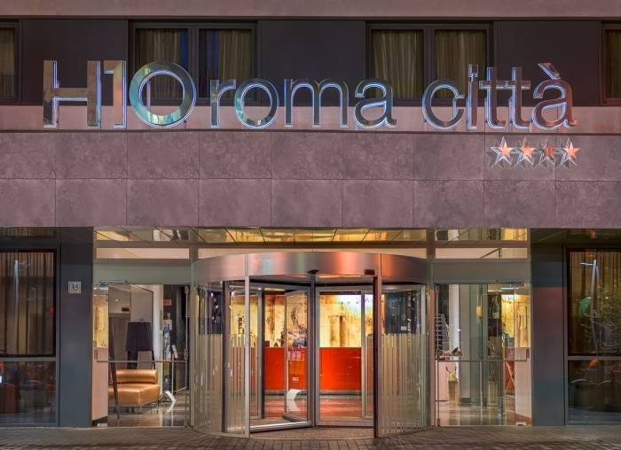 Front entrance of H10 Roma Città