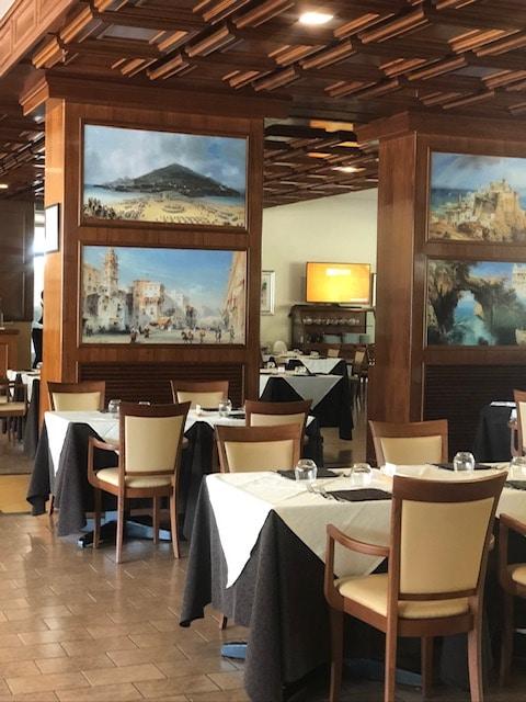 Dining area inside Hotel Mirasole, Gaeta