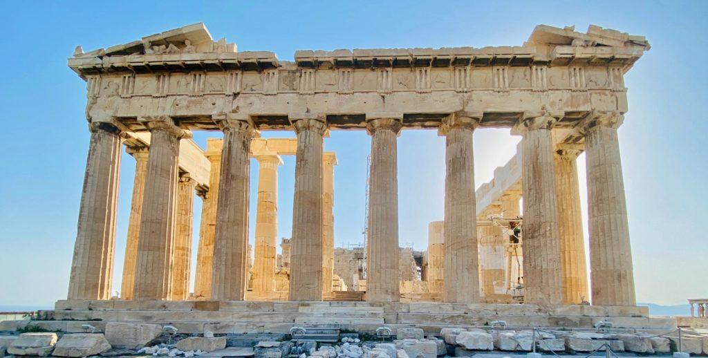 Acropolis Athens Greece August 2021